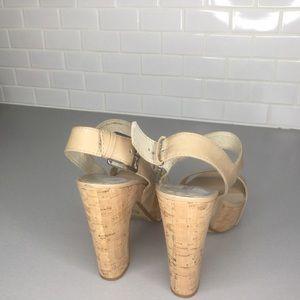 Michael Kors Shoes - Michael Kors Ivana nude cork heels sandals SZ 8